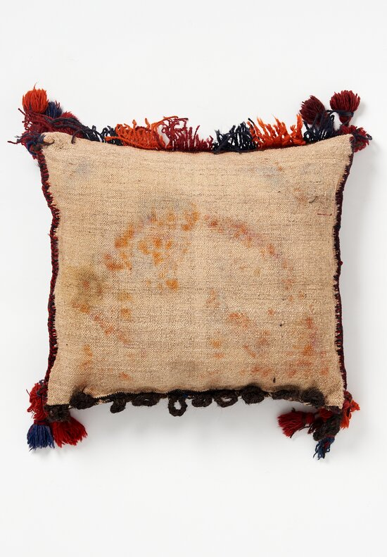 Afghan Hand-Knotted Fringe Pillow