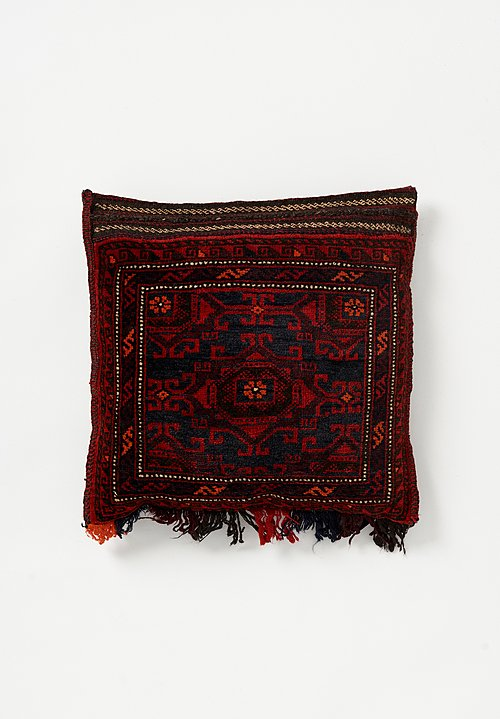 Afghan Hand-Knotted Intricate Geometric Pillow