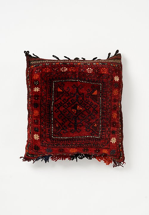 Afghan Hand-Knotted Pillow