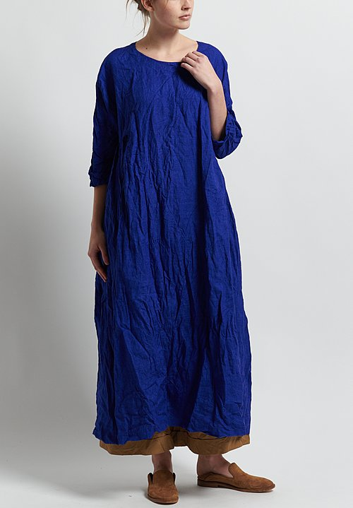 Daniela Gregis Washed Linen Honey Newpride Dress in Electric Blue