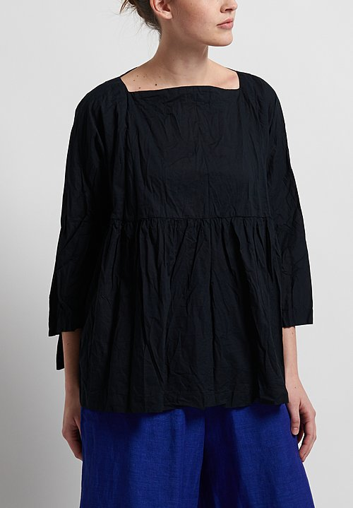 Daniela Gregis Honey Dado Top in Navy