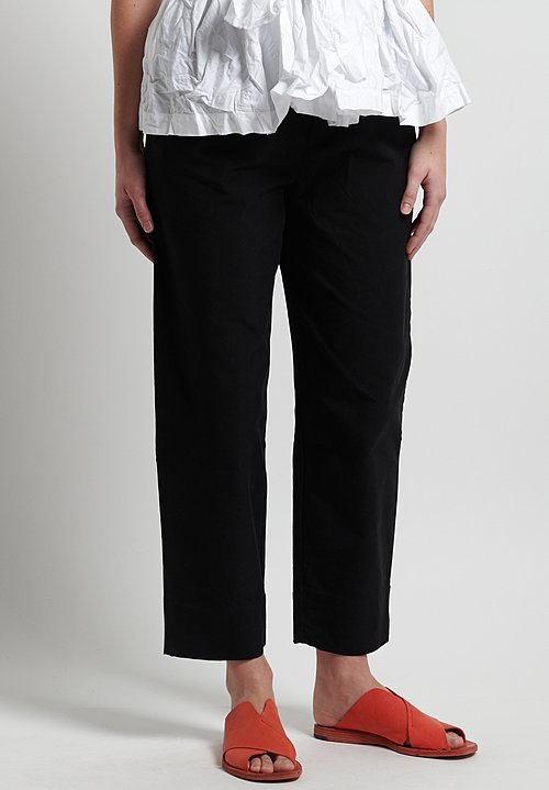 Daniela Gregis Cigarette Leg Pants in Black