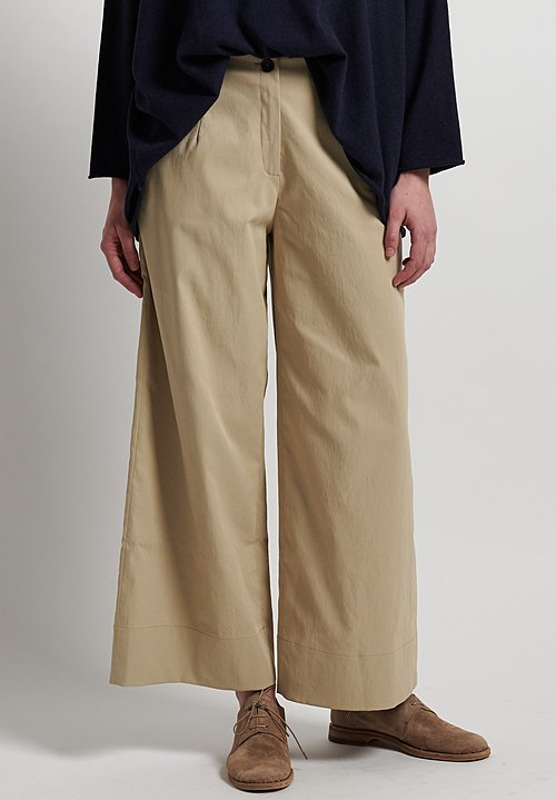 Peter O. Mahler Techno Wide Leg Pants in Sand