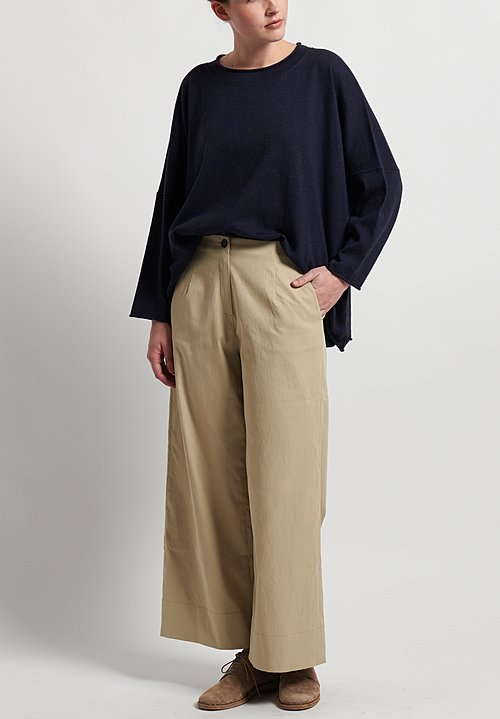 Peter O. Mahler Techno Wide Leg Pants in Natural