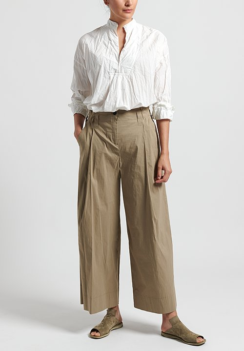Peter O. Mahler Stretch Linen Culottes in Nougat