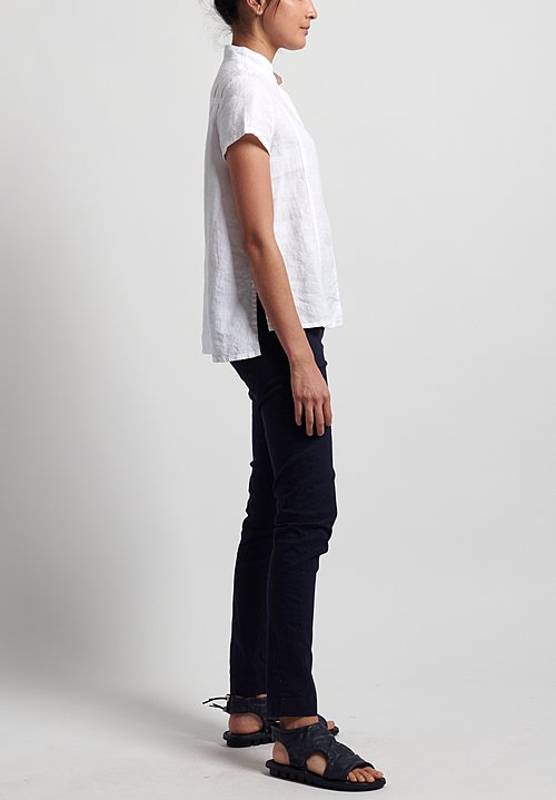 Rundholz Black Label Stretch Linen/ Cotton Skinny Pants in Martinique