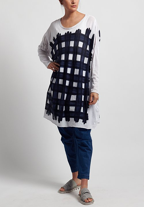 Rundholz Black Label Cotton Oversized Printed Tunic in Martinique Print