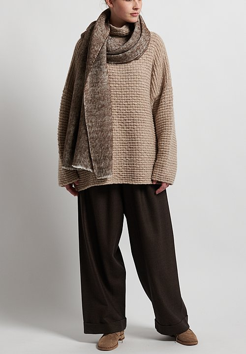Hania New York Hand Knit Brookweed Sweater in Beige Melange