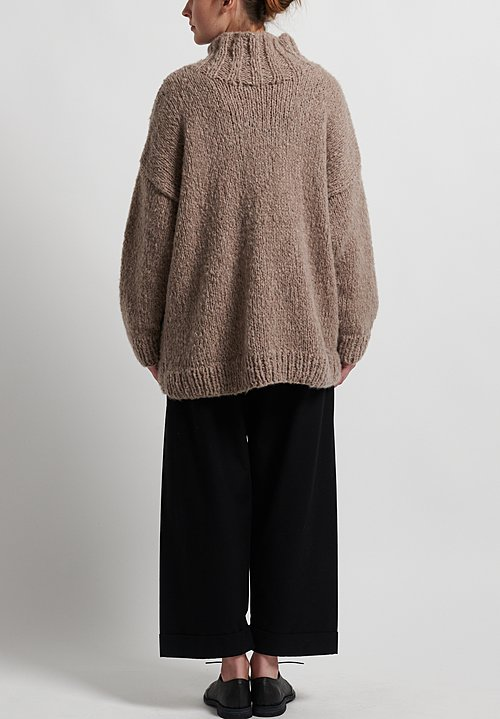 Hania New York Hand Knit York Sweater in Beige Melange