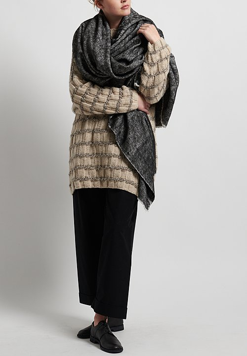 Hania New York Hand Knit Prindle Sweater in Cream/Natural Mix