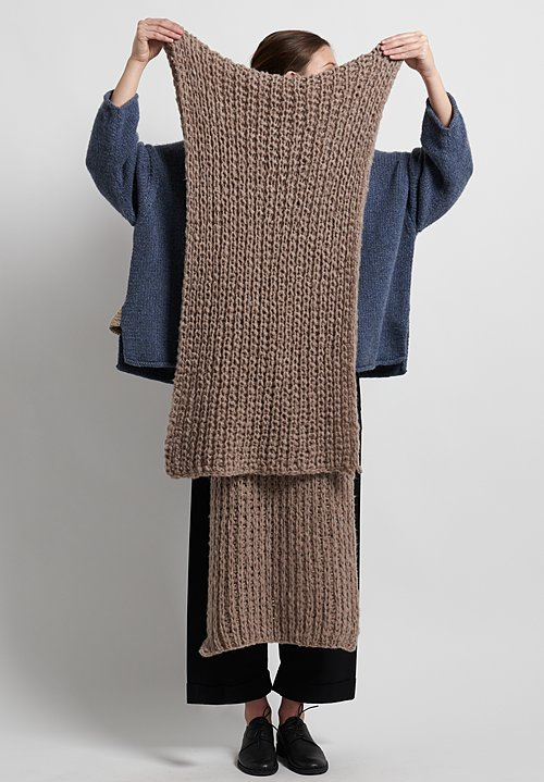 Hania New York Hand Knit Aster Scarf in Chocolate