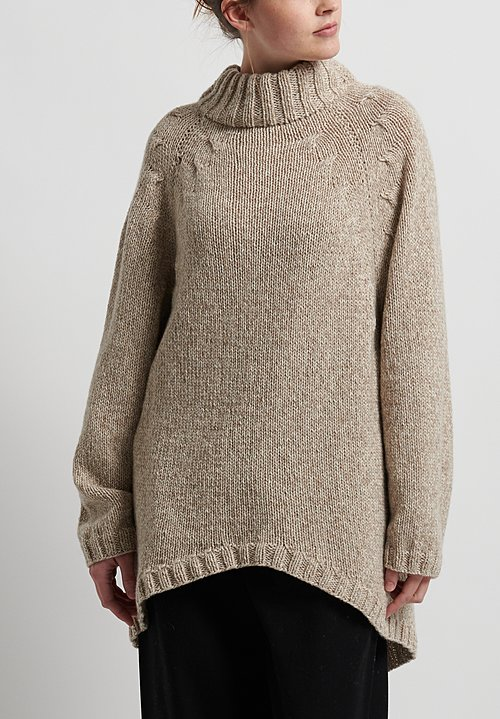 Hania New York Hand Knit New Celesta Sweater in Natural