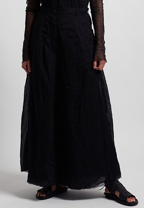 Rundholz Dip Cotton Attached Back Skirt Pants in Black