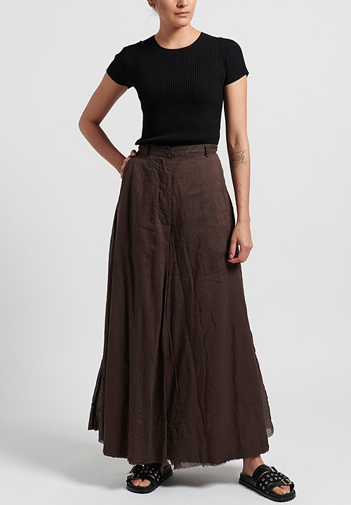 Rundholz Dip Cotton Attached Back Skirt Pants in Rust