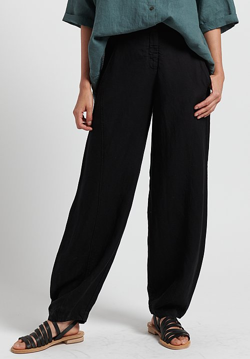 Oska Aegir Round Leg Trousers in Black