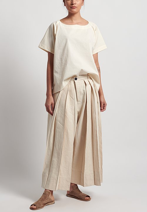 Jan-Jan Van Essche Hemp Hakama Trousers in Kinari