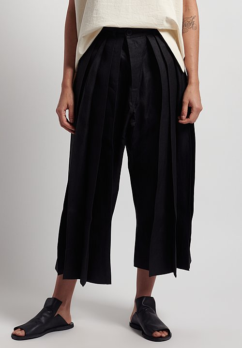 Jan-Jan Van Essche Hemp Hakama Trousers in Black