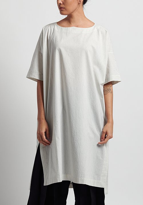 Jan-Jan Van Essche Cotton Striped Wide Fit Long Tunic in White