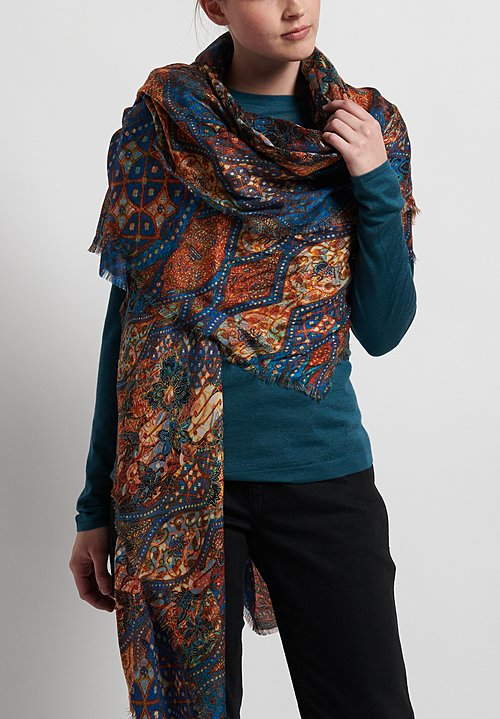 Alonpi Printed Scarf in Owens Multi