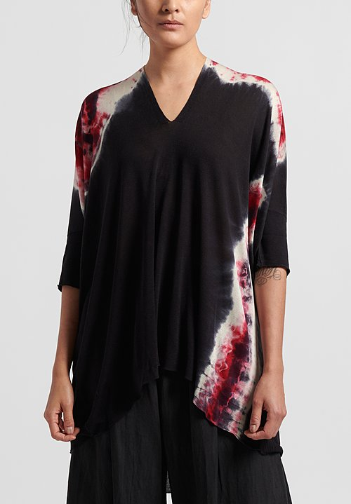 Masnada Plûs Silk Lightening Top in Black