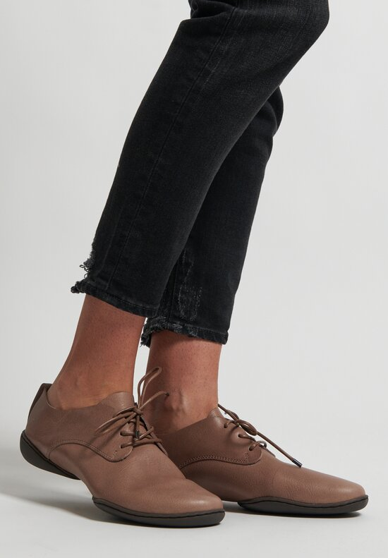 Trippen Pot Lace-Up Shoe in Taupe