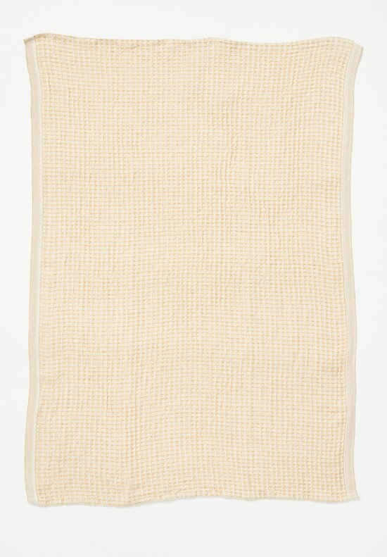 Lapuan Kankurit Organic Cotton/ Linen Maija Towel White/ Gold