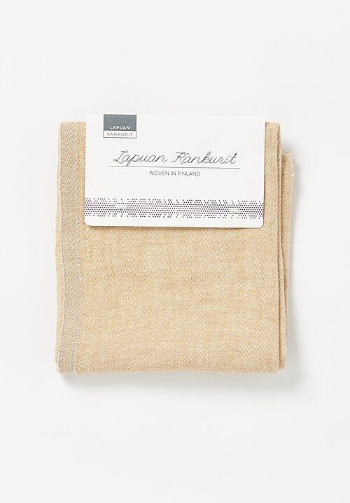 Lapuan Kankurit Organic Washed Linen Duo Towel Gold/ Linen