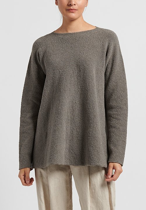 Lauren Manoogian Pima Cotton Flare Pullover in Granite