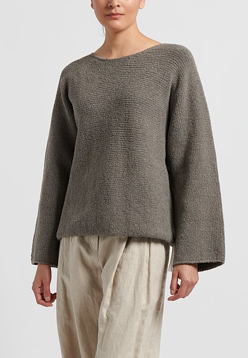 Lauren Manoogian Pima Cotton Trapezoid Pullover in Granite