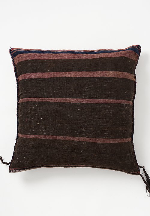 Wool Woven Geometric Stripes Large Pillow
