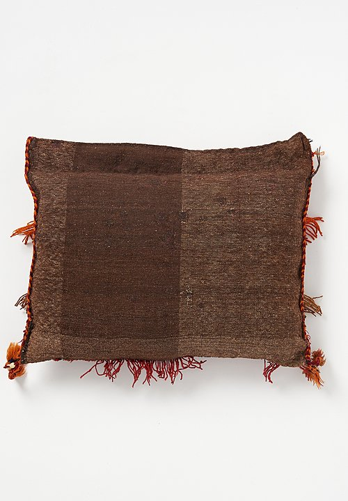 Wool Fringe & Tassel Rectangle Pillow