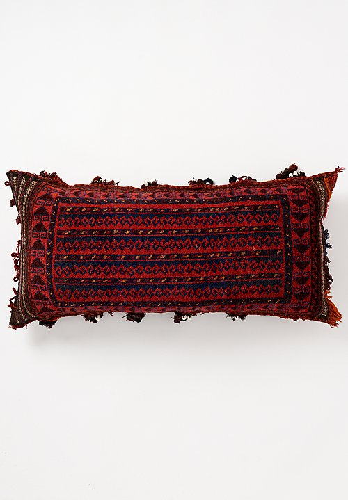 Wool Hand-Knotted & Shell Tassel Large Pillow