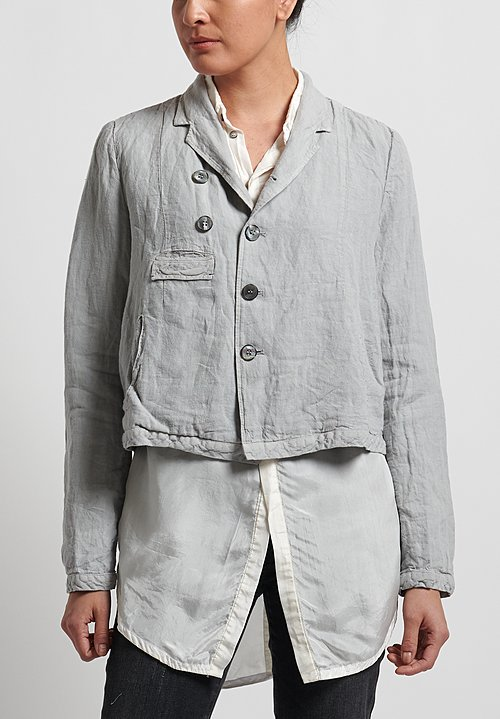 Umit Unal Linen Short Jacket in Silver