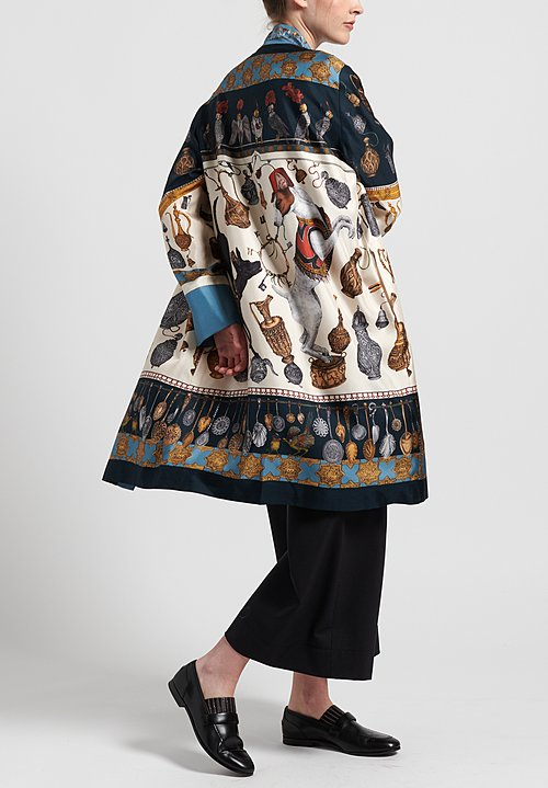 Sabina Savage Silk Dogs' Treasure Midi Jacket