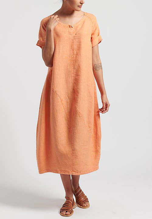 Oska Linen Evene Long Dress in Calendula
