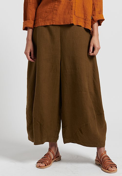 Oska Linen Yasha Wide Leg Trouser in Savanna