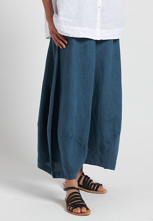 Oska Linen Yasha Wide Leg Trouser in River