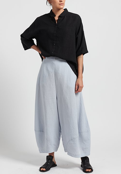 Oska Linen Yasha Wide Leg Trouser in Air