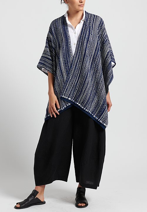 Oska Linen Yasha Wide Leg Trouser in Black
