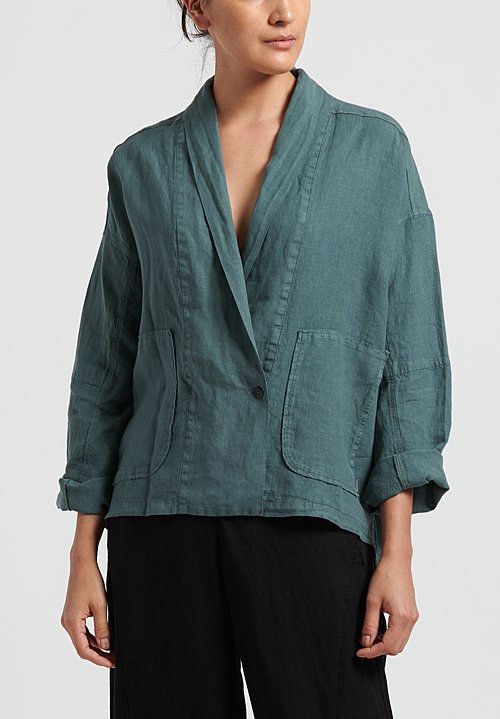 Oska Linen Alberte Jacket in Green