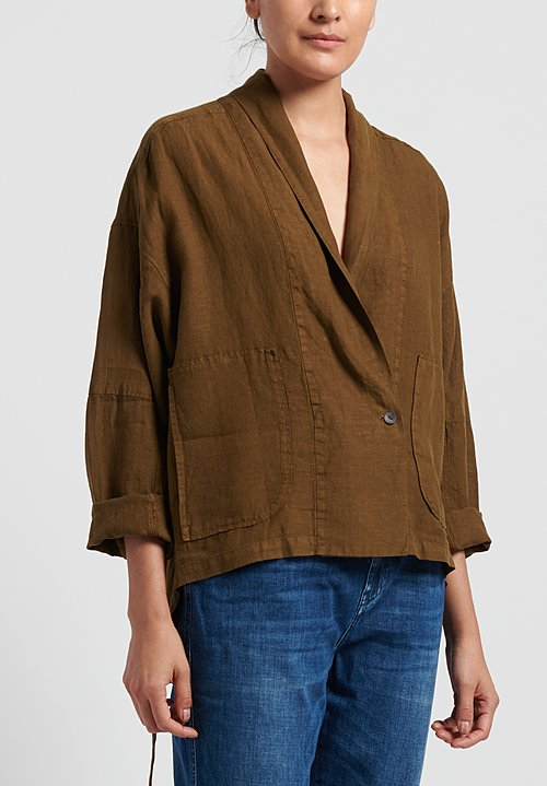 Oska Linen Alberte Jacket in Savanna