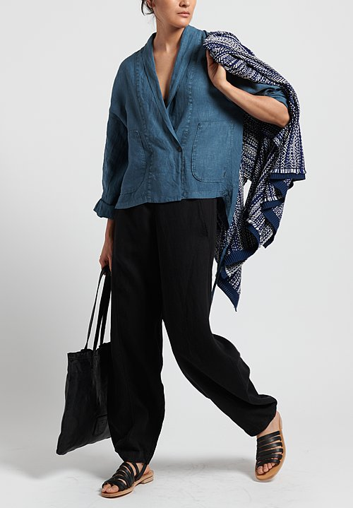 Oska Linen Alberte Jacket in Blue