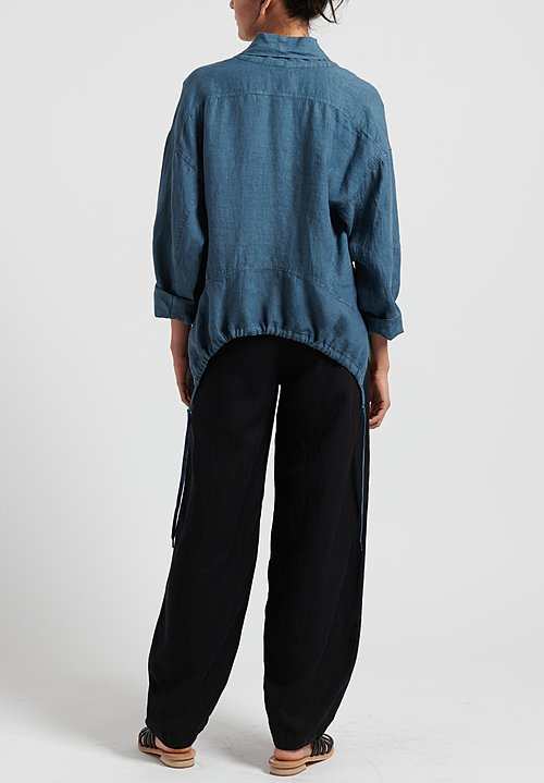 Oska Linen Alberte Jacket in River