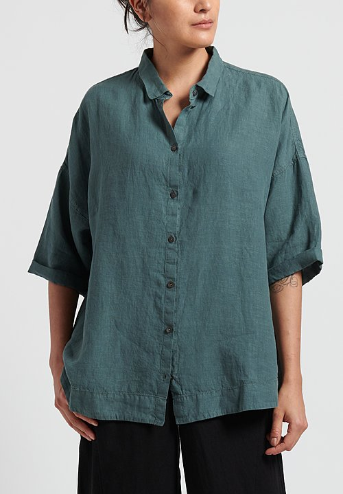 Oska Linen Oversize Blouse in Hemp