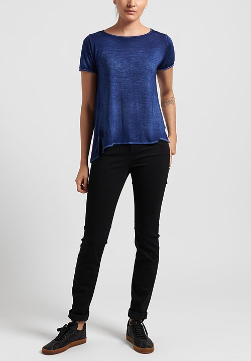 Avant Toi Micromodal Short Sleeve Tee in Denim