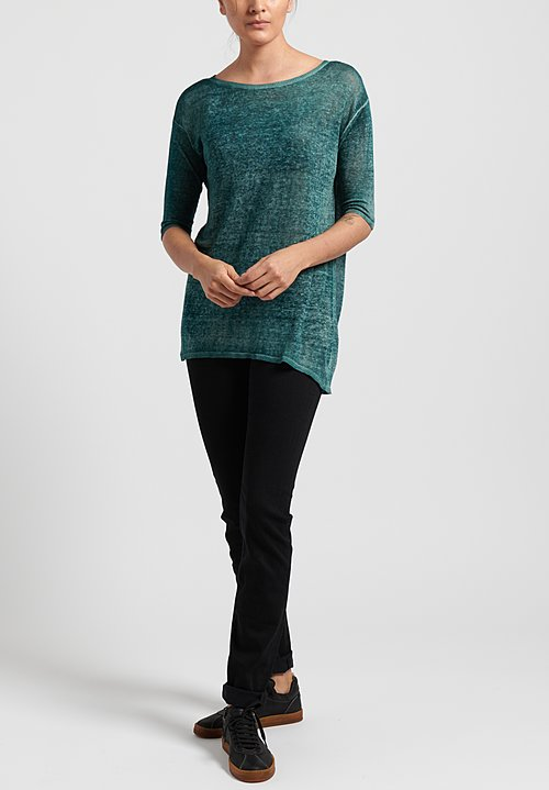 Avant Toi Linen Knit Long Top in Provence