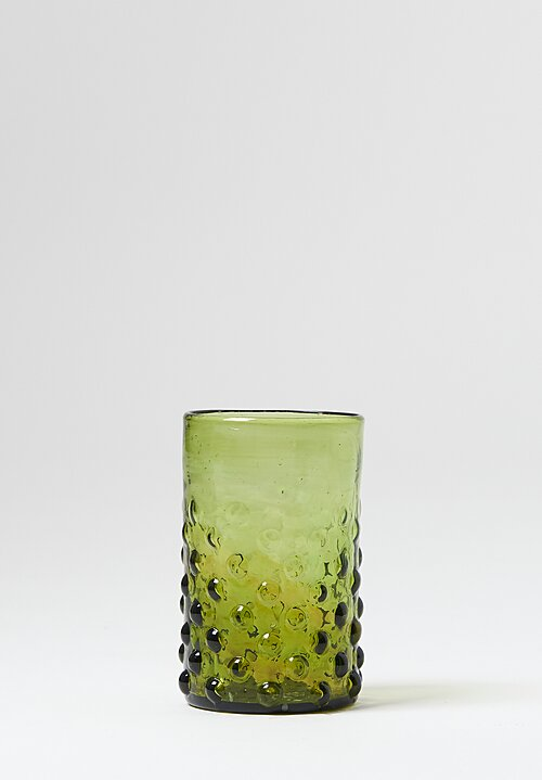 La Maison Dar Dar Handblown Pomegranate Glass Olive