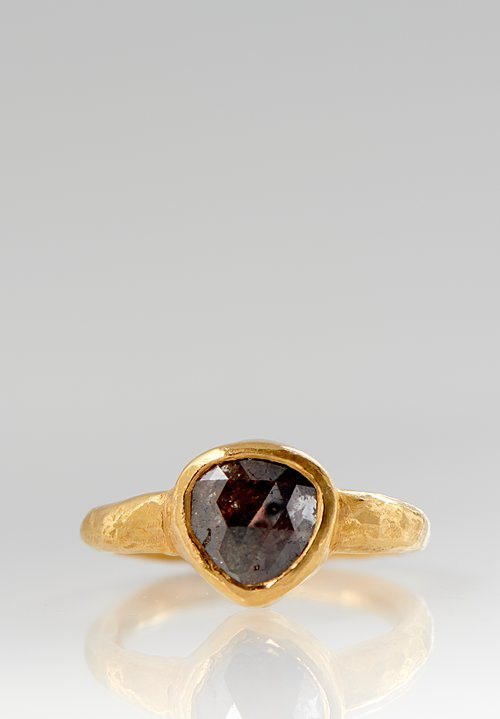 Ram Rijal 22K, Black Diamond Triangle Ring