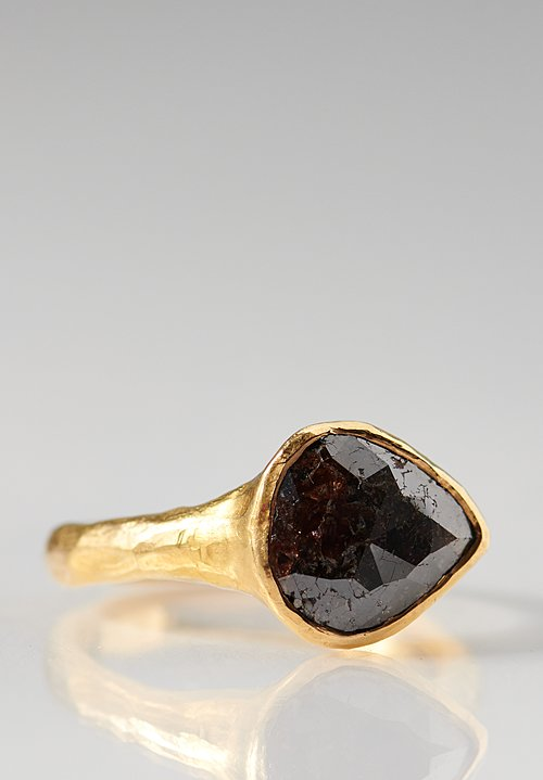 Ram Rijal 22K, Black Diamond Tear Drop Ring