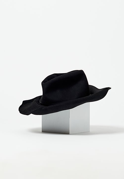 Horisaki Design & Handel Moldable Beaver Felt Hat in Black